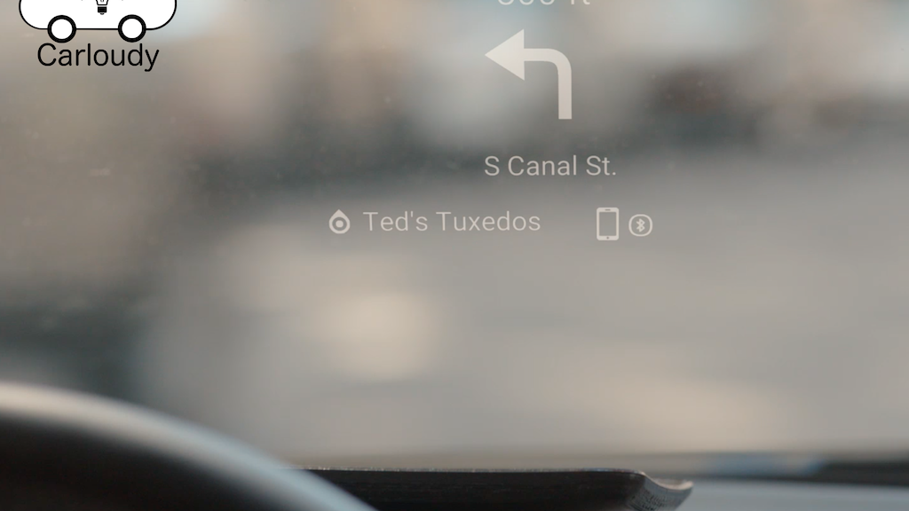 Carloudy: Futuristic Head-Up Display on Your Windshield project video thumbnail