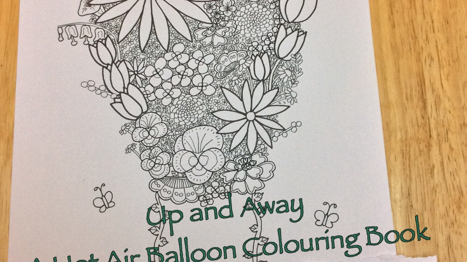 Up And Away A Hot Air Balloon Colouring Book By Stacey Vaux