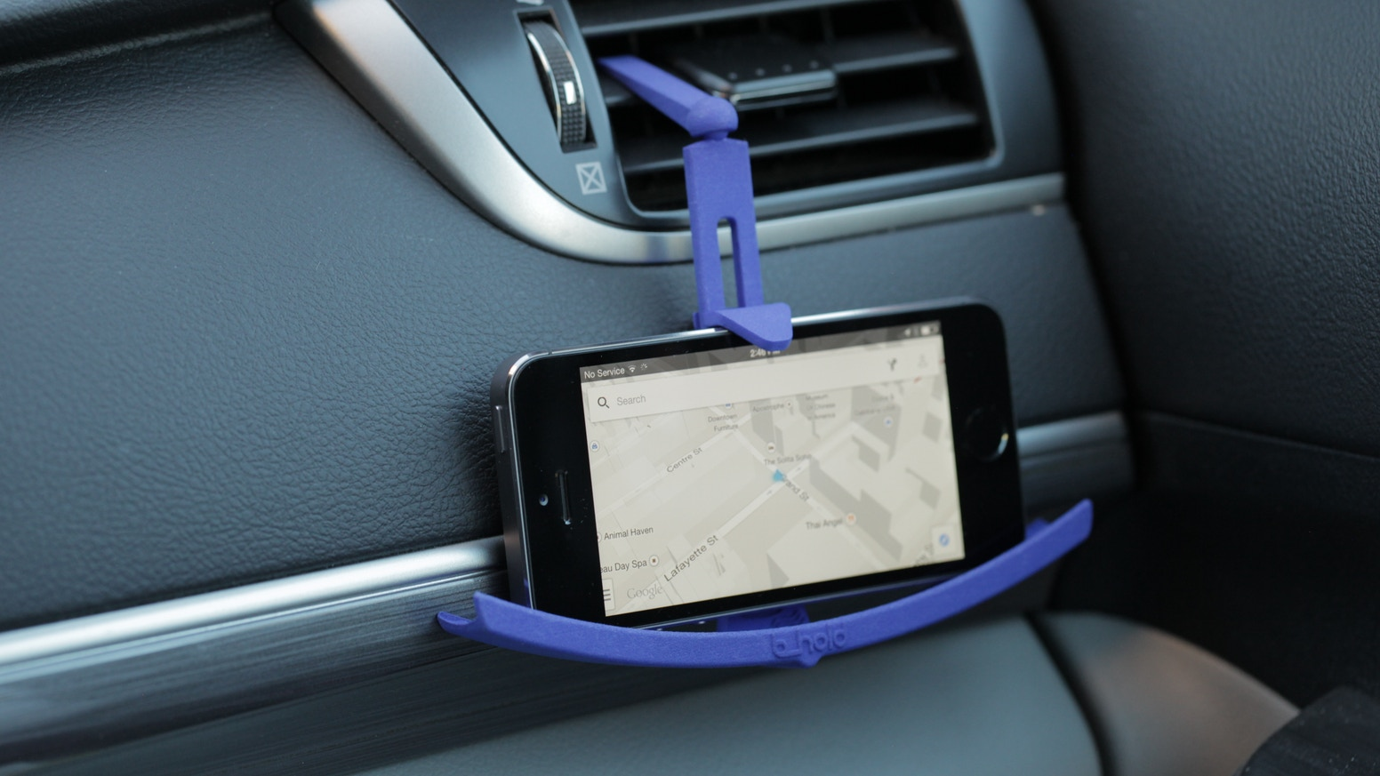 Drive safer and hands free with this universal curved design that secures any phone in any car.