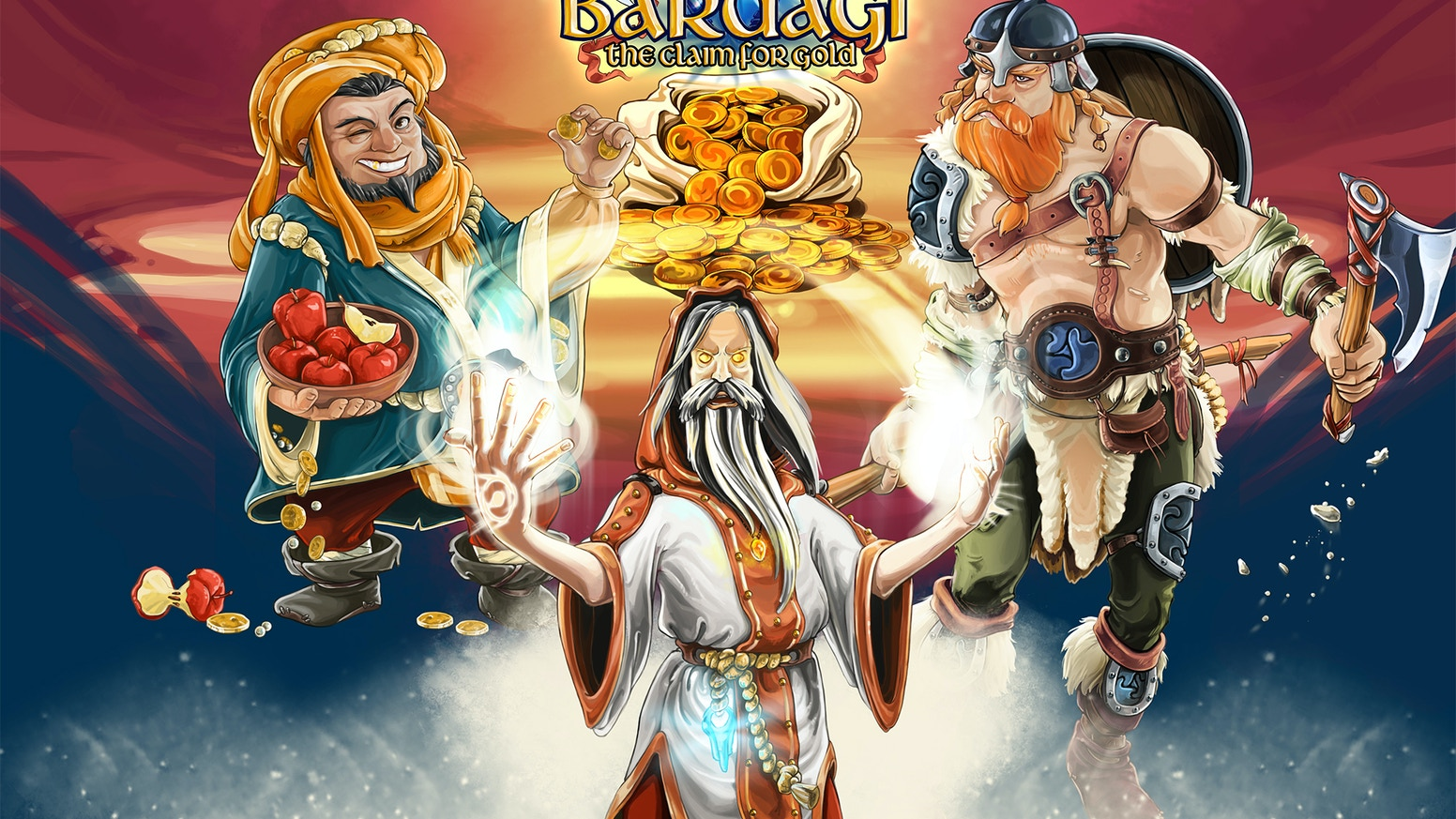 Bardagi: The Claim for Gold is a card-driven, area management, adventure board game for 2-5 players by Gamia games in Sweden.