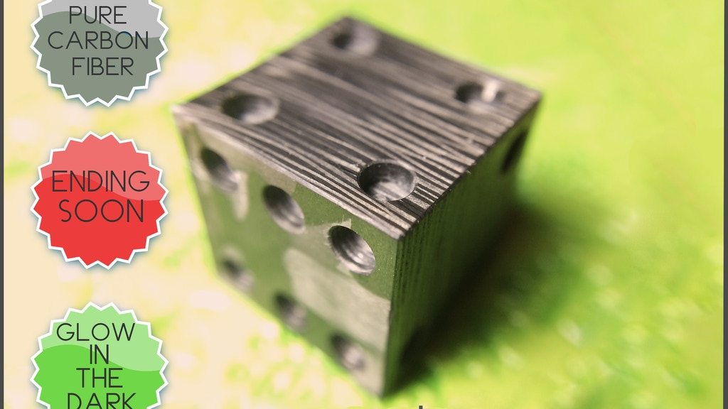 COTOCUBE -  glowing carbon fiber dice / cube by COTO. project video thumbnail