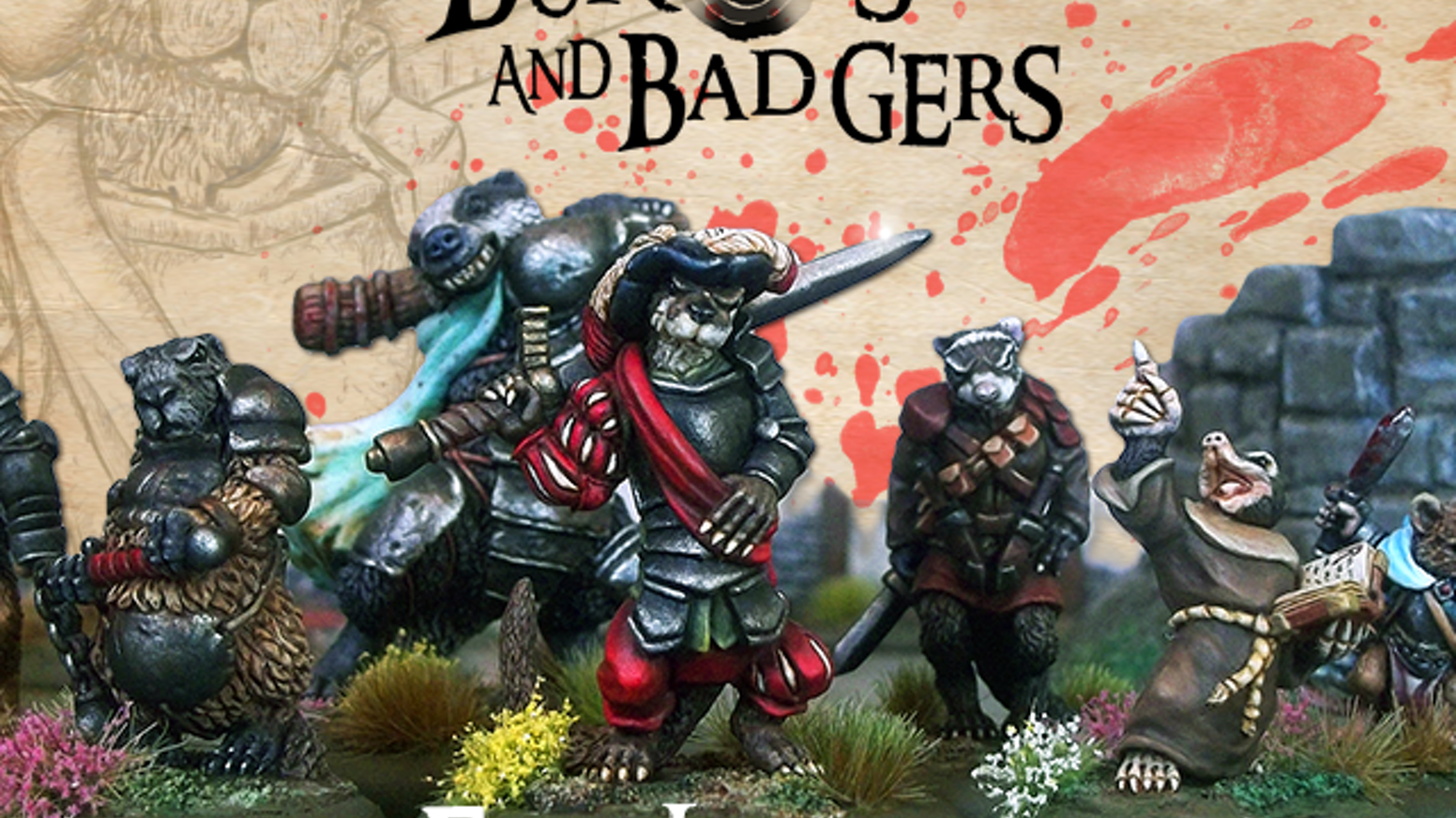 We're back with more great anthropomorphic animal pewter miniatures - and our full Alpha test skirmish rules free for you to download.