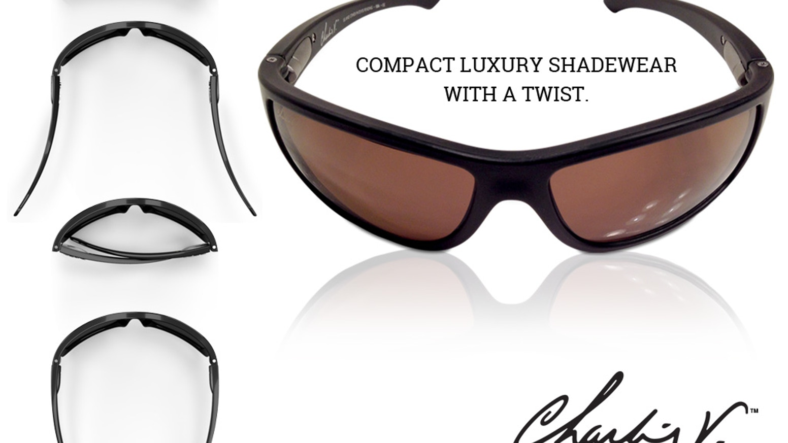 Charlie V Sunglasses are precision engineered with an exclusive, twist and pivot hinge design, for a more compact folding position