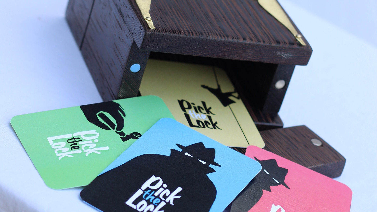 Pick the Lock is a game of chance and strategy. Attempt to obtain priceless treasures and outwit the other players.