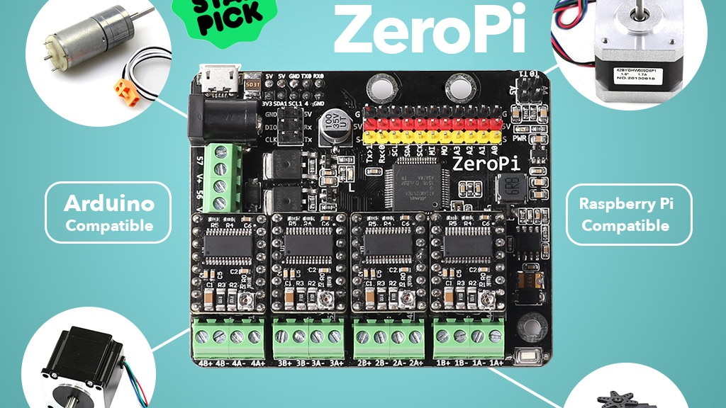 ZeroPi - Arduino and Raspberry Pi compatible development kit project video thumbnail