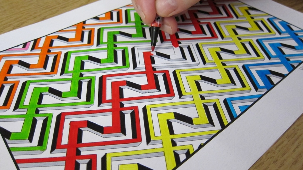 Project image for Impossible 3D Optical Illusions for Coloring and Wearing.