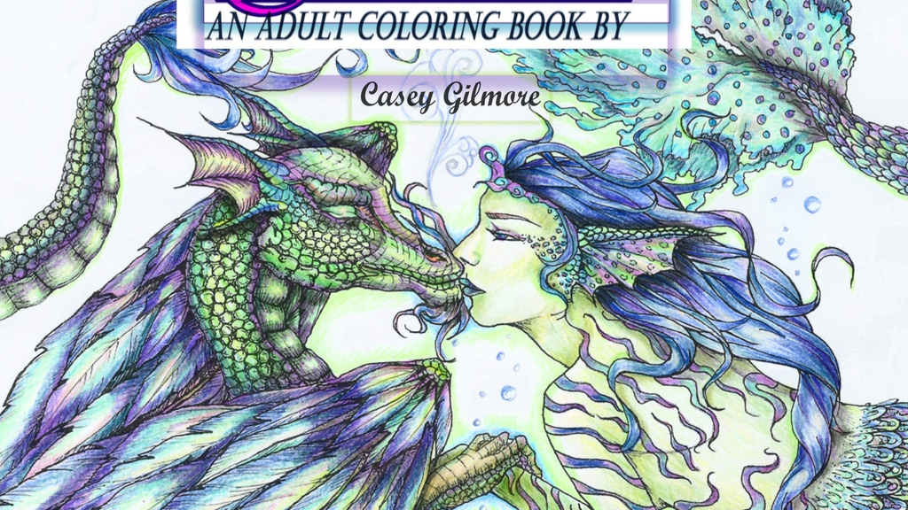 Fantasia A Fantasy Adult Coloring Story Mythology Book
