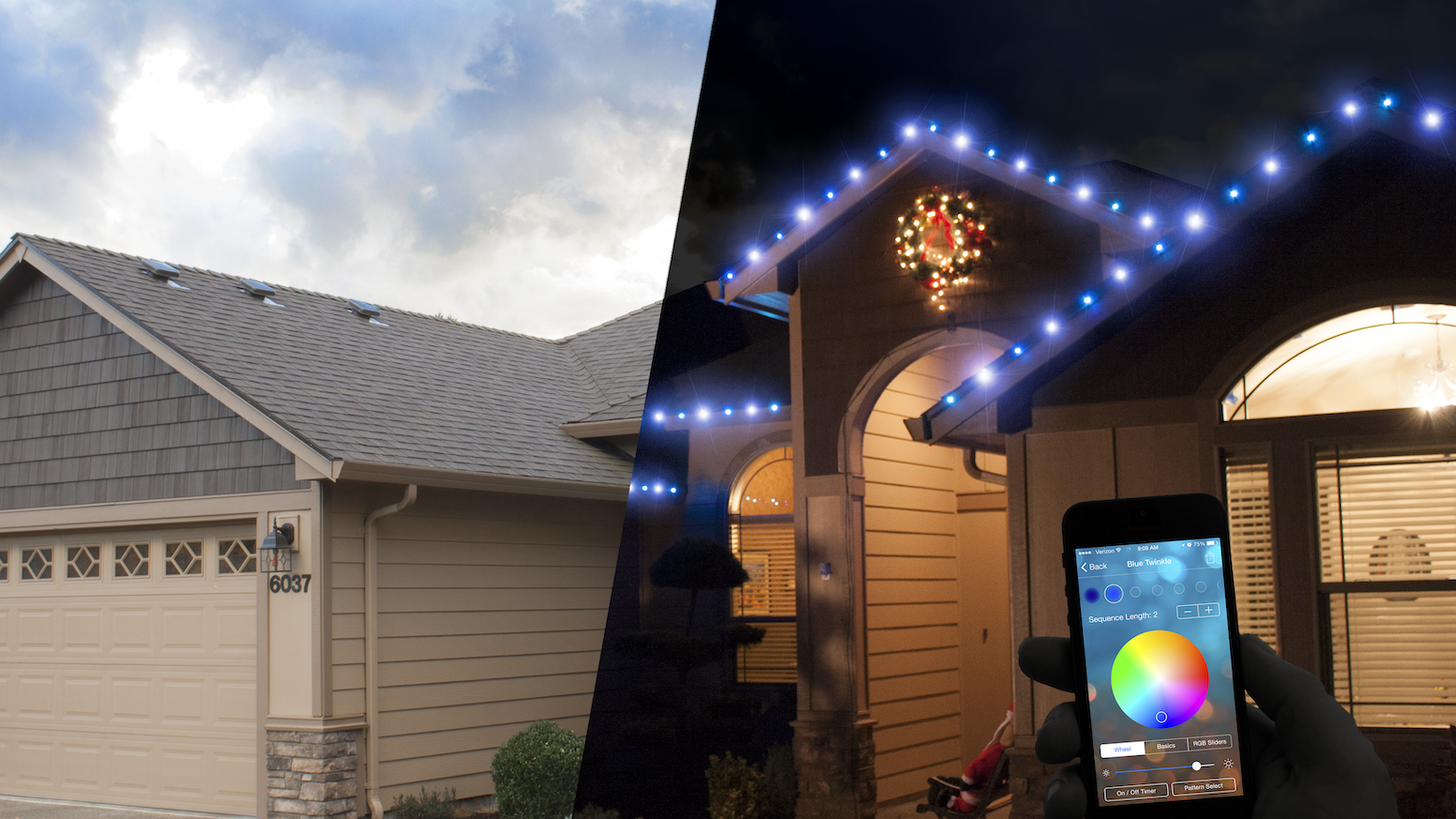 Invisible by day, radiant at night. A smarter, safer and more colorful solution to lighting your home that you never need to take down.