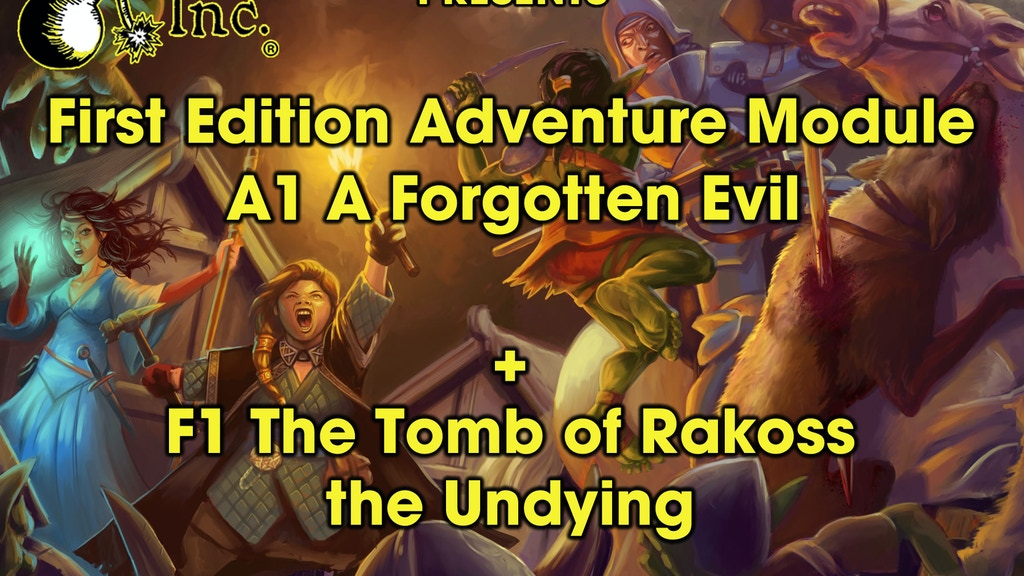 First Edition Adventure Module A1 A Forgotten Evil project video thumbnail