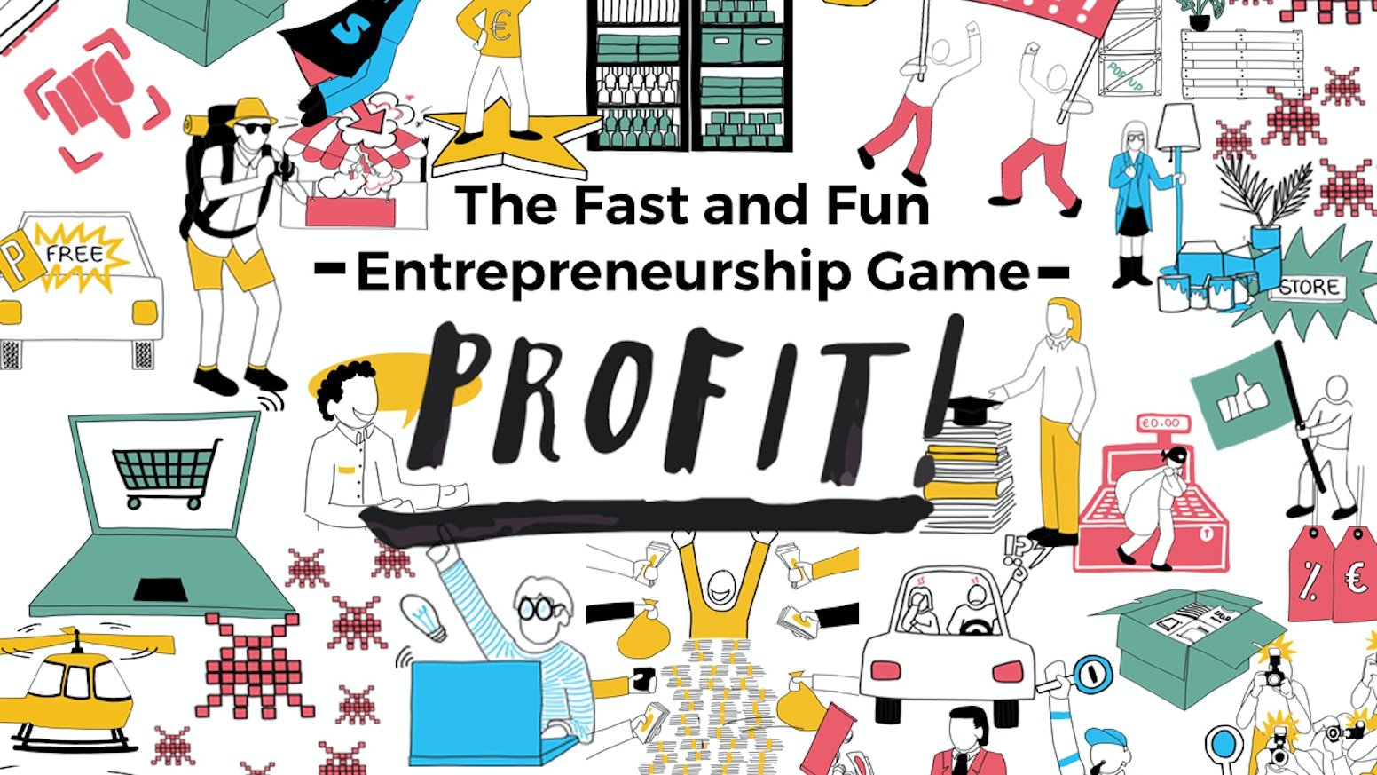 Discover and play our card game: Profit! The fast and fun game that unleashes the ENTREPRENEUR in YOU.