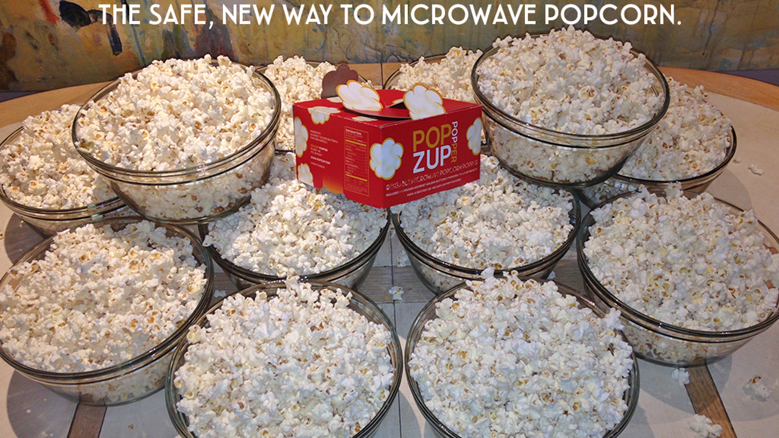 The chemical free, totally new way to microwave air popped popcorn that's naturally healthy and delicious.