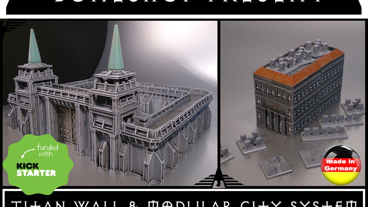"""Boneshop's Epic 6mm Titan Wall & Modular City System"" is a completely modular Fortress Building System with highest quality standards!"