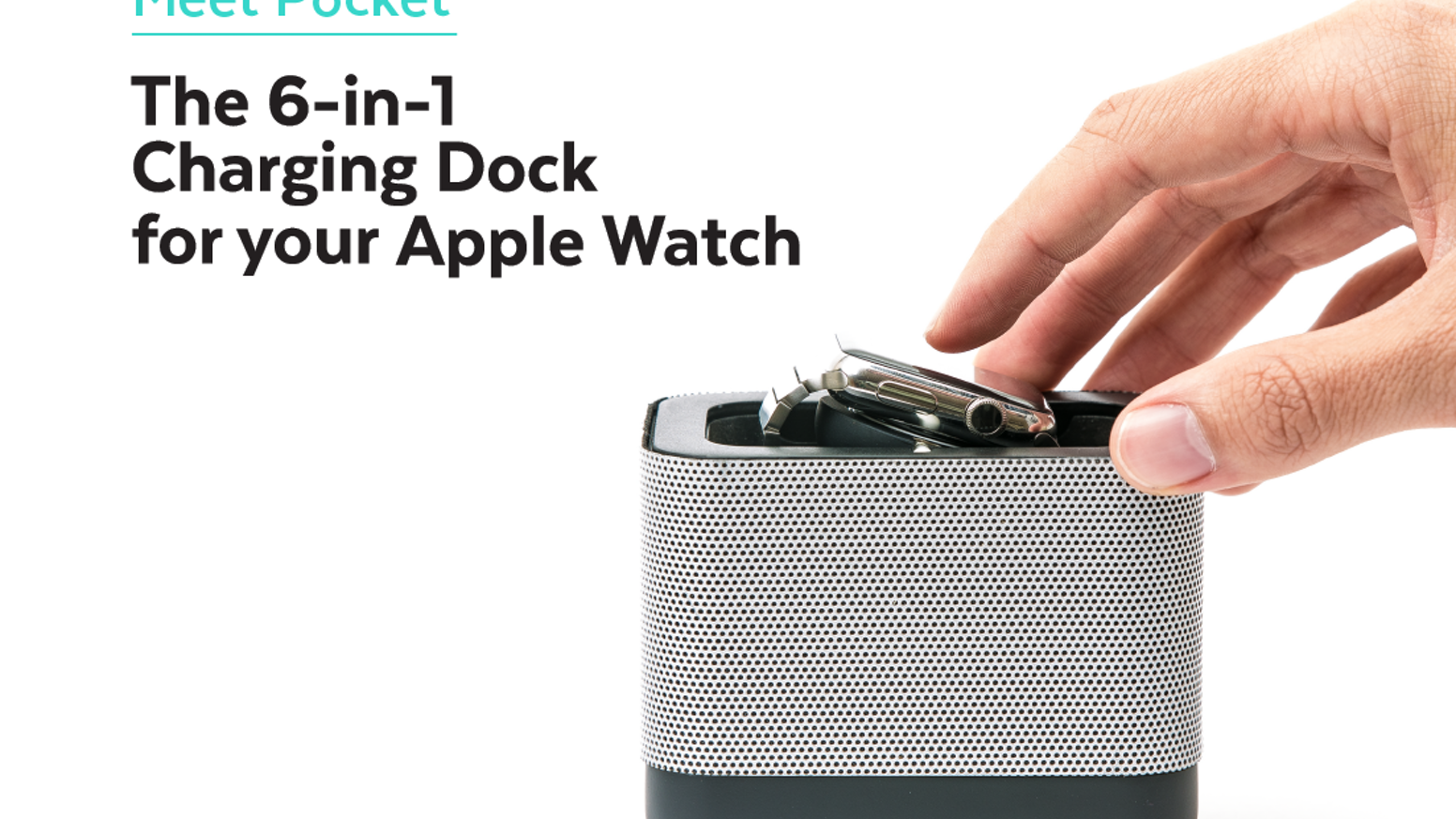 The world's only Apple Watch companion that is a dock, powerbank, cable organizer and protective case all rolled into one.