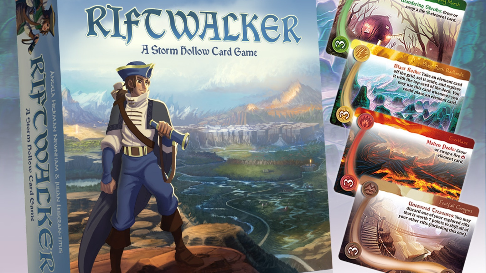 A strategy card game set in Storm Hollow. Explore the world and weave its elements to become a legendary Riftwalker.
