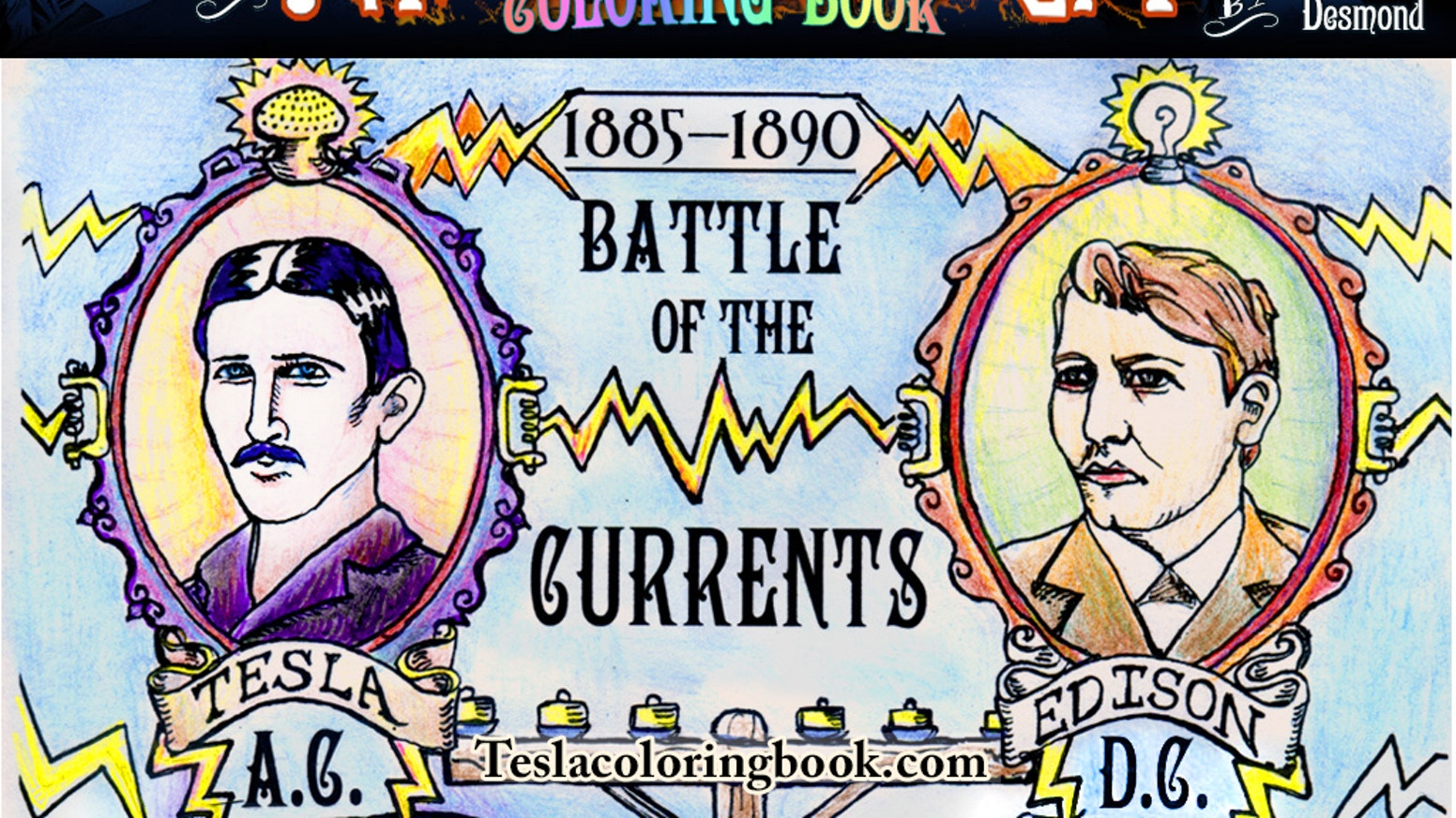 An awesomely illustrated, educational coloring book about Nikola Tesla! Color in the legacy of the World's greatest inventor.