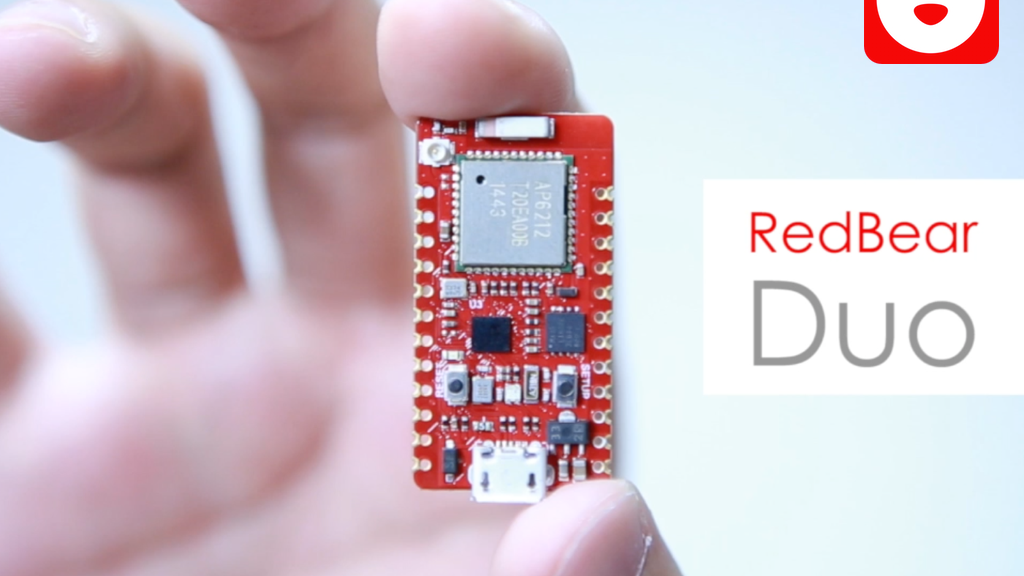 RedBear Duo: A small and powerful Wi-Fi + BLE IoT board project video thumbnail