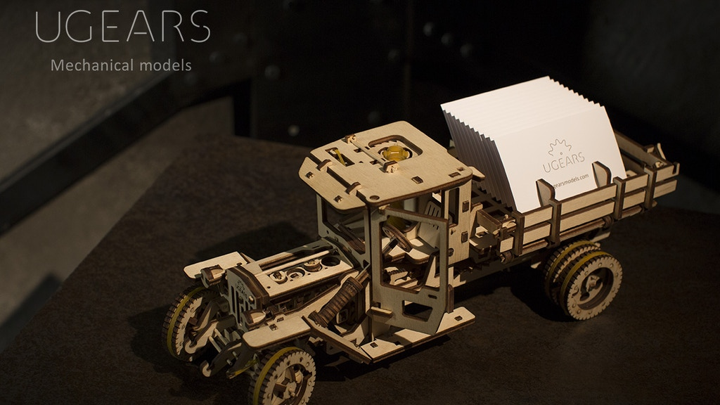 UGEARS: Self-propelled mechanical models (#2) project video thumbnail