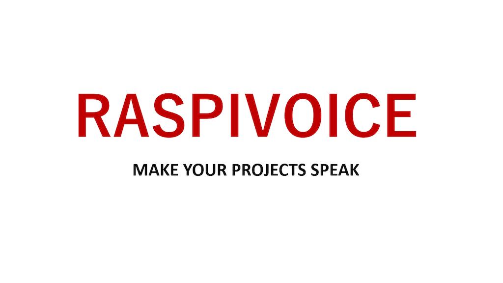 RaspiVoice V2.0 project video thumbnail