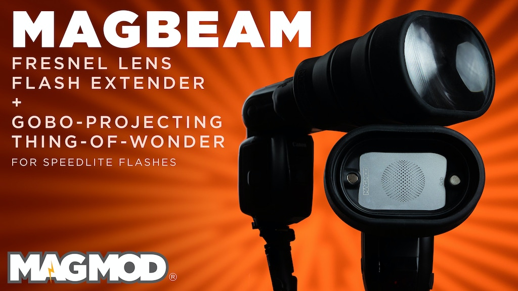 MagBeam - Fresnel Lens Flash Extender + Gobos, by MagMod project video thumbnail
