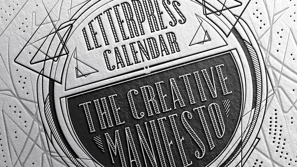 2016 Letterpress Calendar . The creative manifesto project video thumbnail