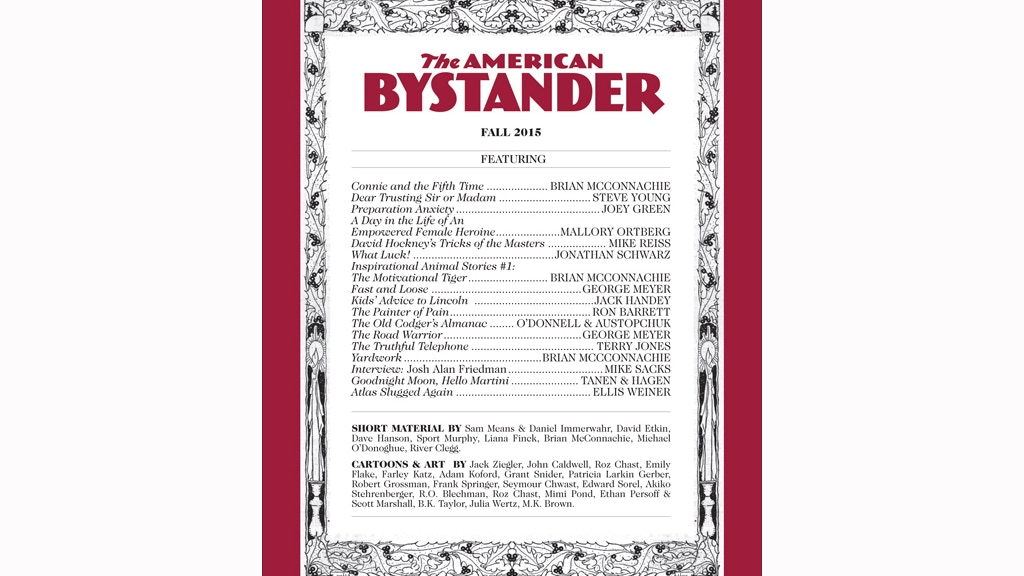 The American Bystander Humor Magazine project video thumbnail