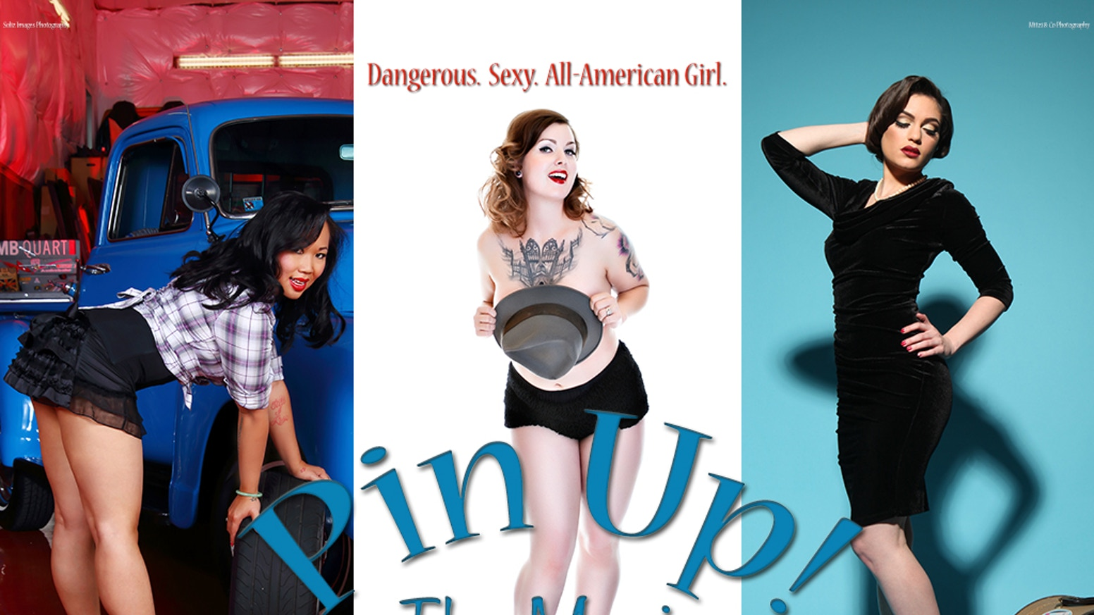 All American Girl Movie pin up! the movie the documentary with vintage style
