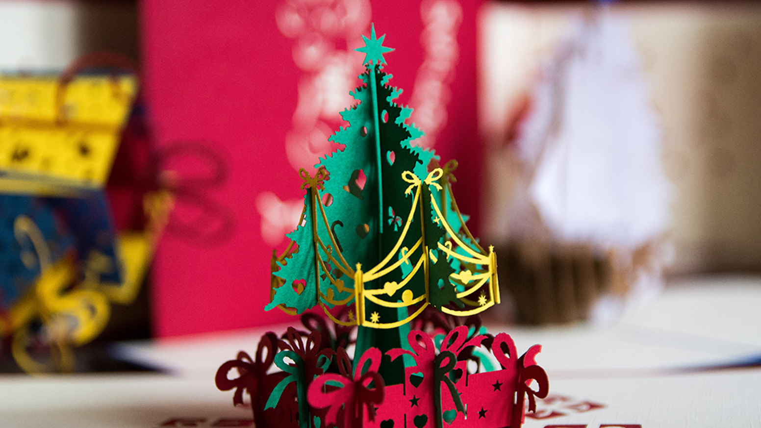 Wonderful 3d Popup Christmas Cards Small Yet Meaningful By