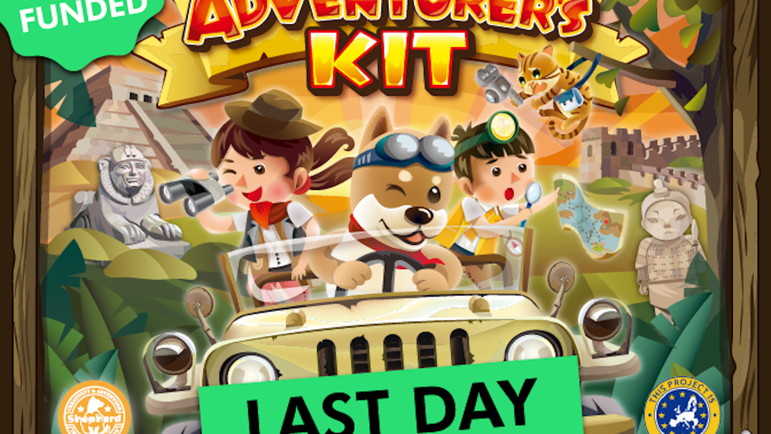 Adventurer's Kit is a culture exploration + genuine artifact excavation game that brings kids a true adventure experience.