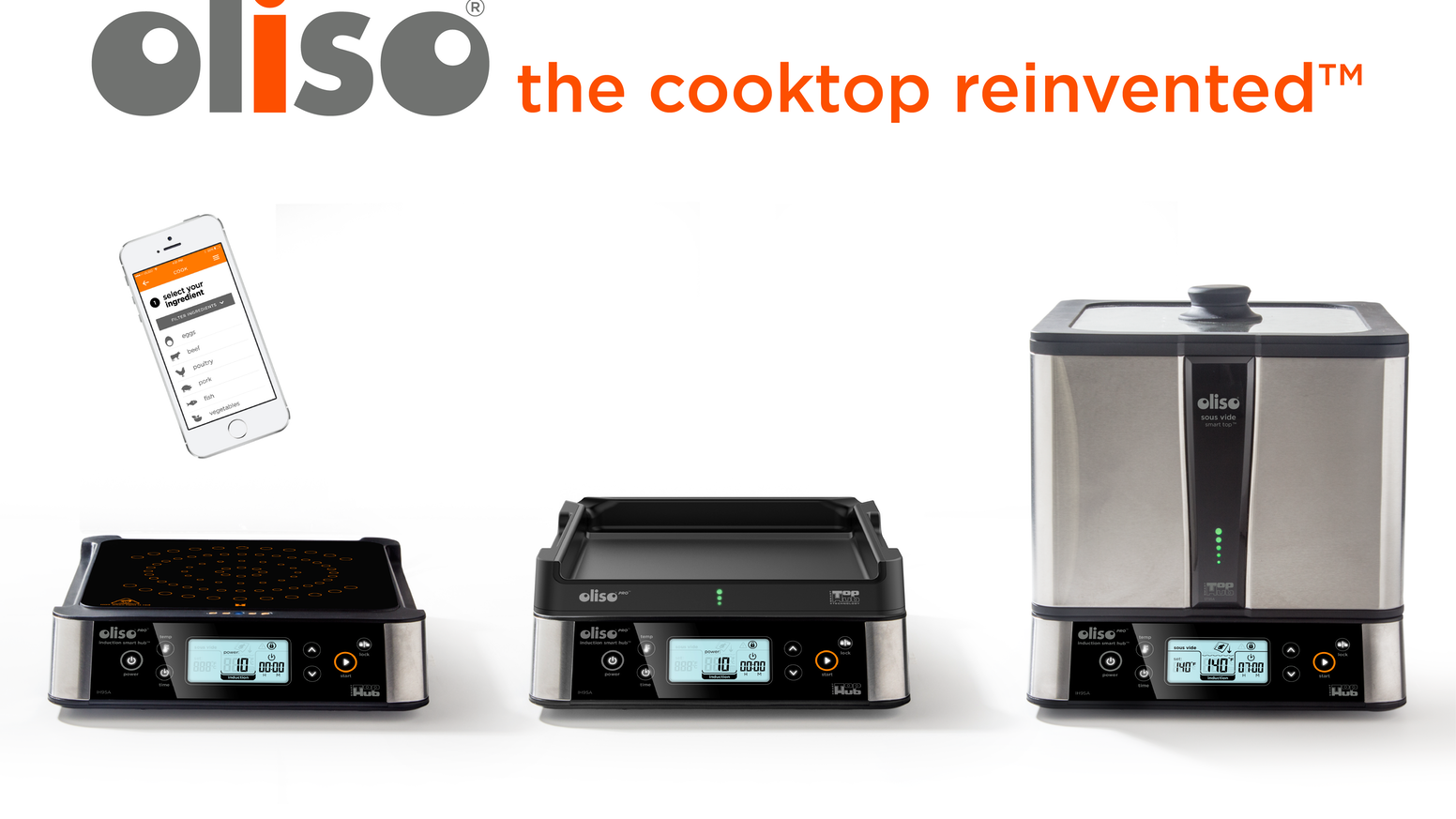A sous vide solution that's so much more.  The Oliso SmartHub™ talks to its pot, opening up a world of precision cooking techniques.