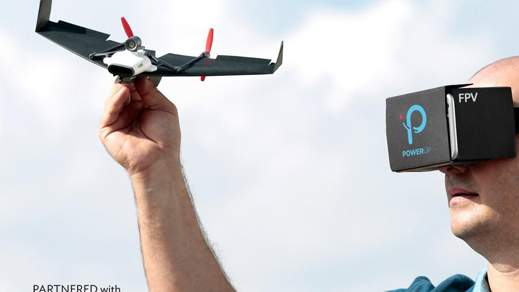 PowerUp FPV - Live Streaming Paper Airplane Drone project video thumbnail