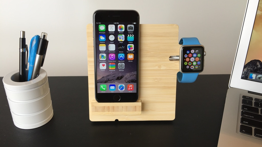 EAZZL - Mobile phone and Apple Watch charging station project video thumbnail