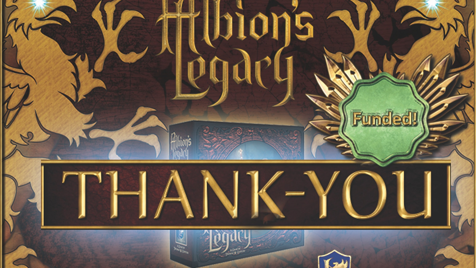 Version 2 of Albion's Legacy, a fully cooperative modular-adventure board game for 1-4 players (expandable to 6), is better than ever.