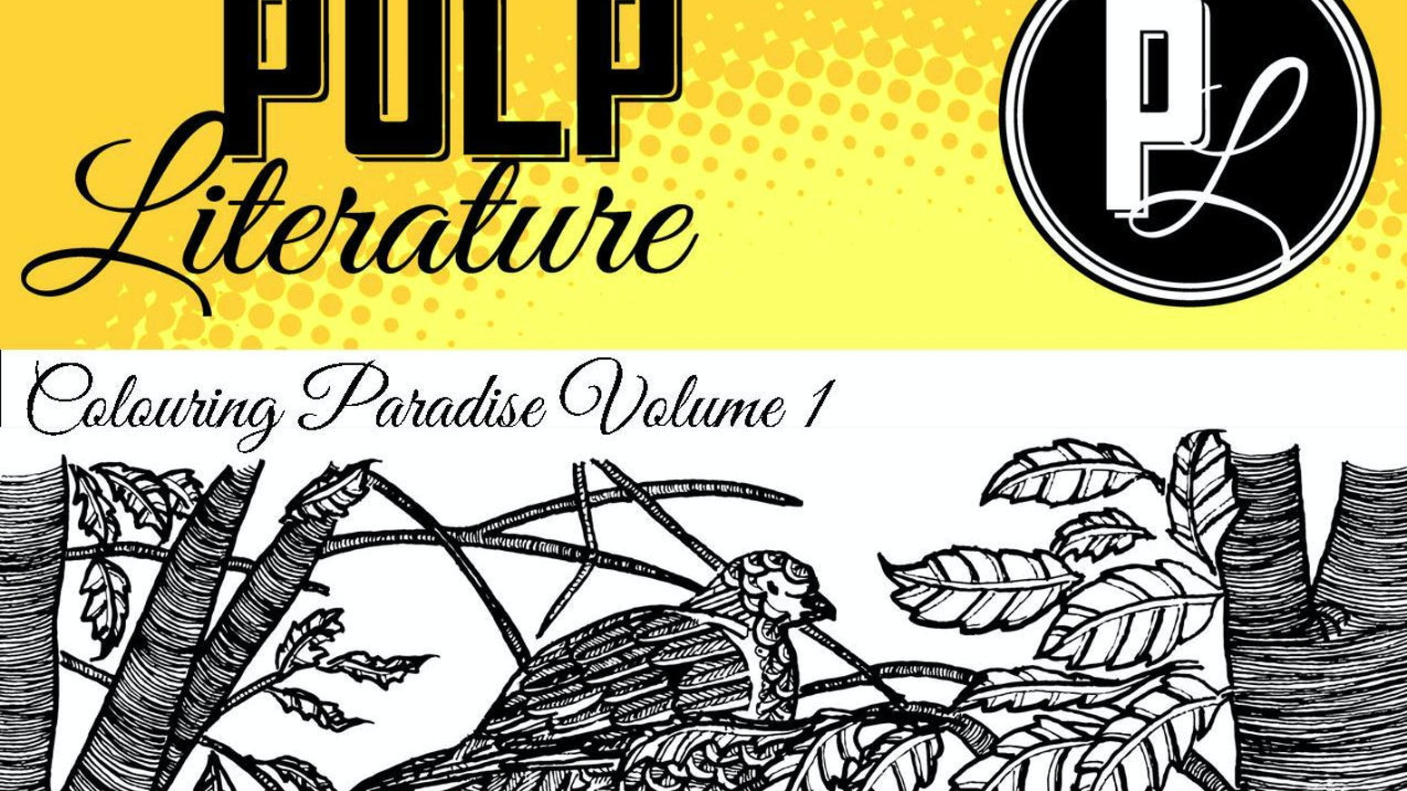 A coloring book for adults or kids, with stunning illustrations by Mel Anastasiou from the pages of Pulp Literature Year One!