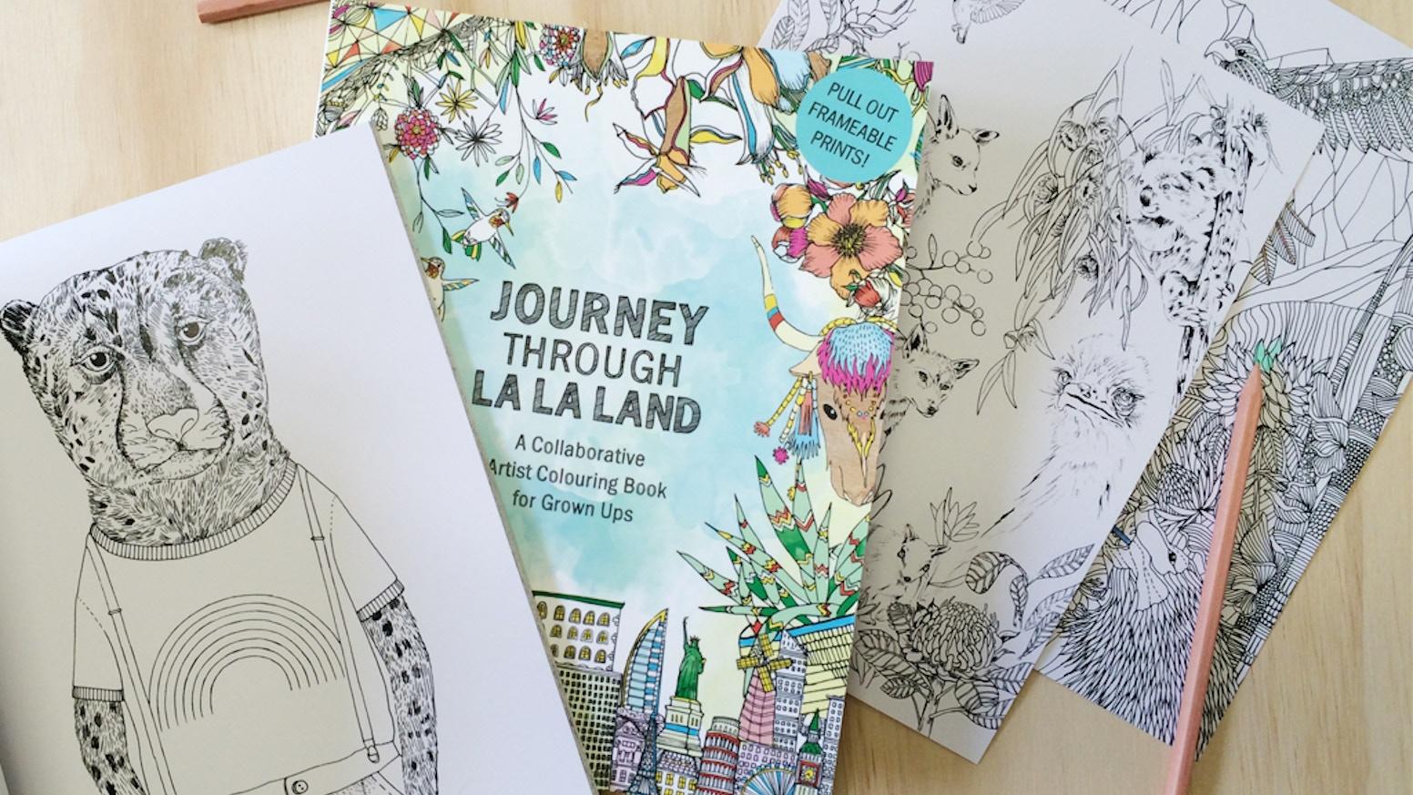 Journey Through La La Land: A Coloring Book for Adults by La