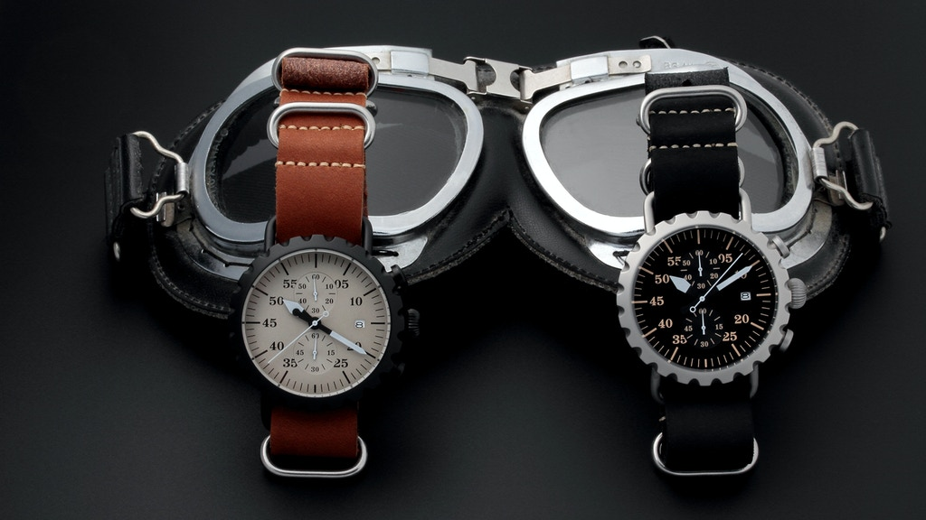 Vintage Inspired Pilot Aviator Watch project video thumbnail