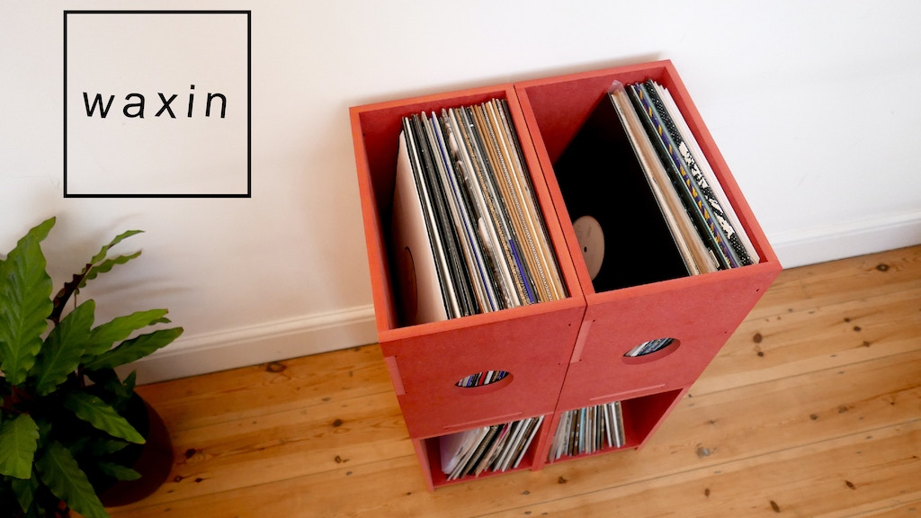 Project image for WAXIN. the modular storage solution specifically for records