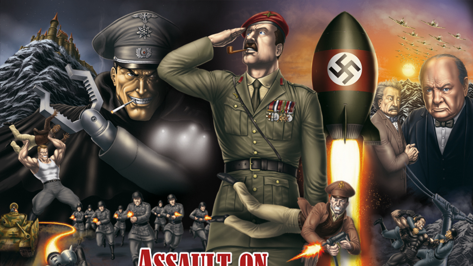 The epic new graphic novel about the greatest secret mission of WW2: a MUST for fans of mind-blowing, Nazi-smashing adventure.