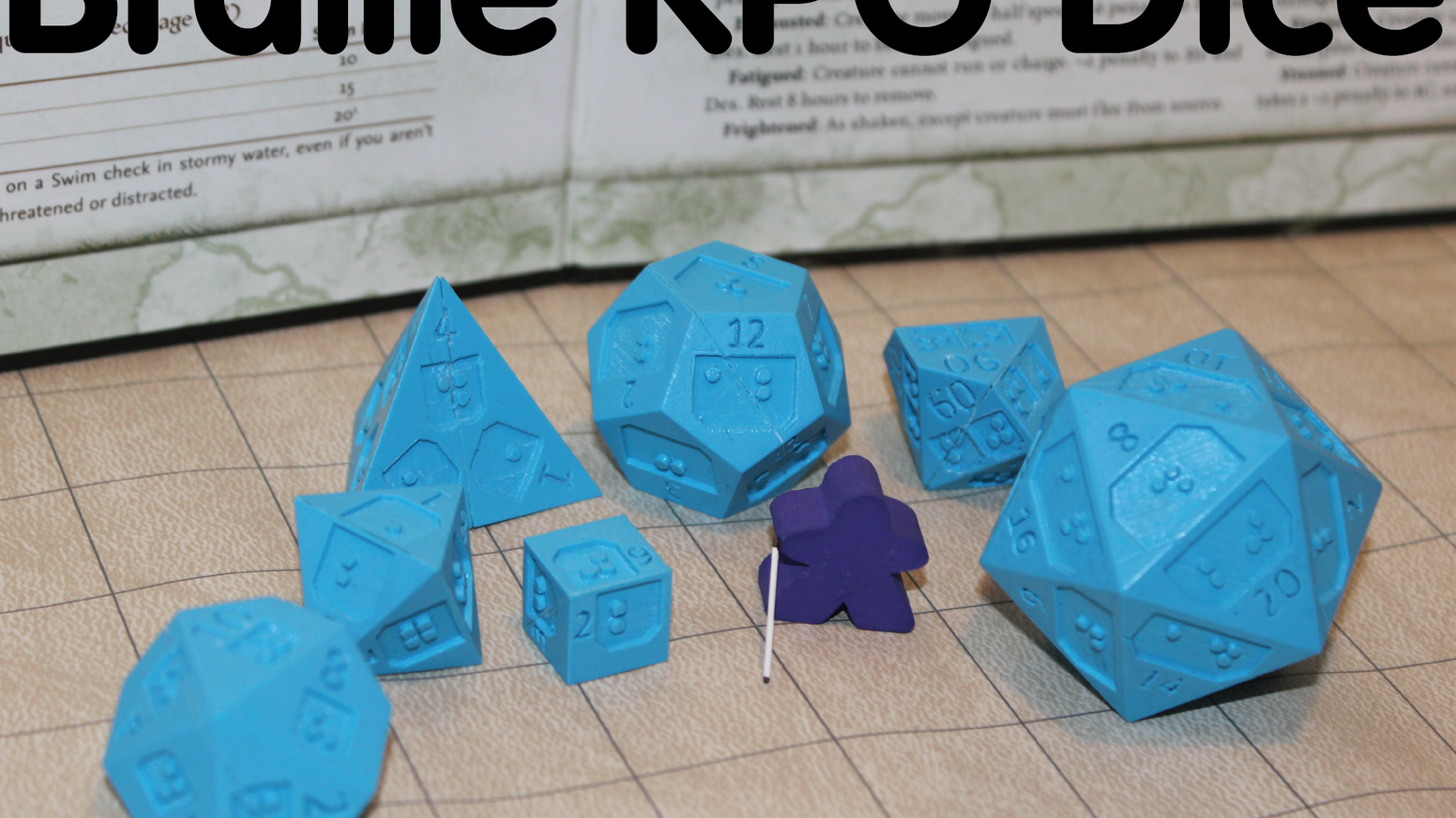 Braille Rpg Dice From 64 Oz Games By 64 Oz Games From A Blind