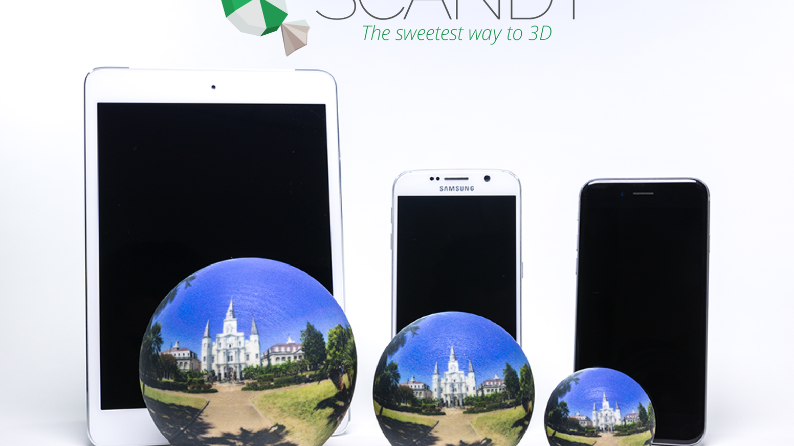 Capture life's precious moments in 360° with Scandy and order full-color 3D-printed Scandy Spheres, all from your mobile device.