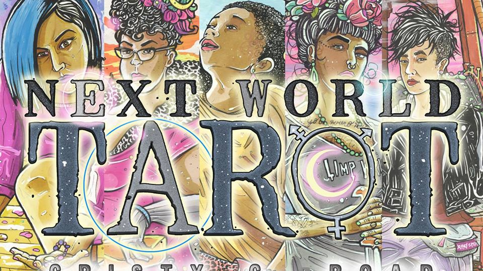 The NEXT WORLD TAROT Card Deck is Cristy C. Road's post-apocalyptic reclamation of magic.