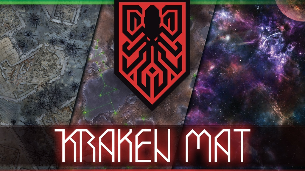 Kraken Mat - a gaming mat for tabletop wargames project video thumbnail