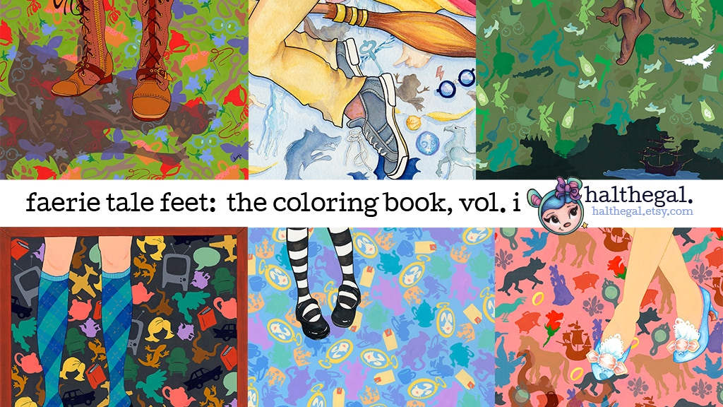 Project image for faerie tale feet:  the coloring book vol. i