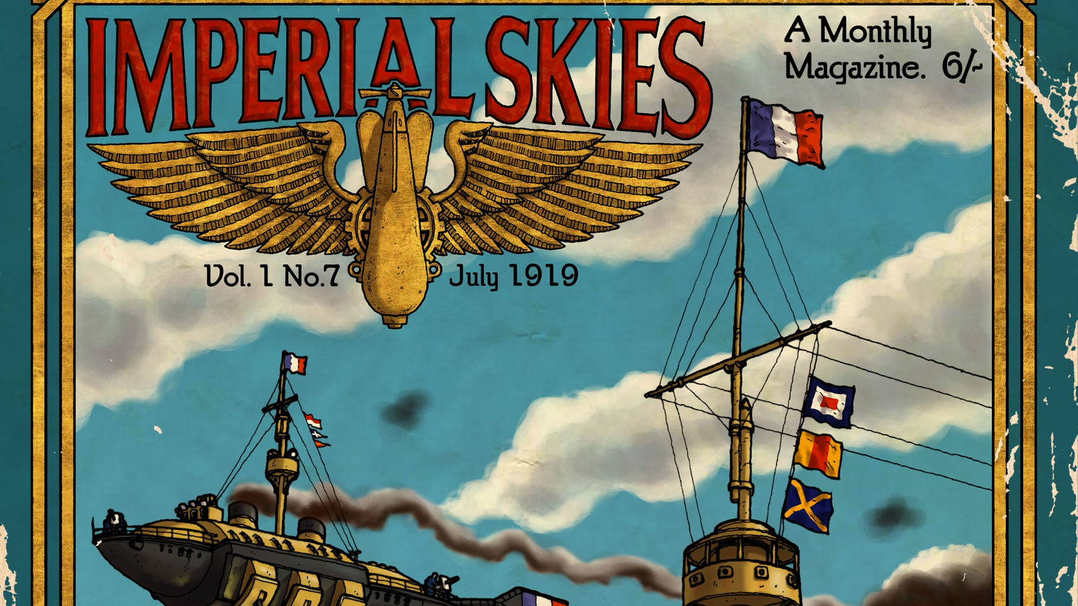 A wargame rule book for playing aerial combat using lighter than air ships in a fictional alternative World War I setting.