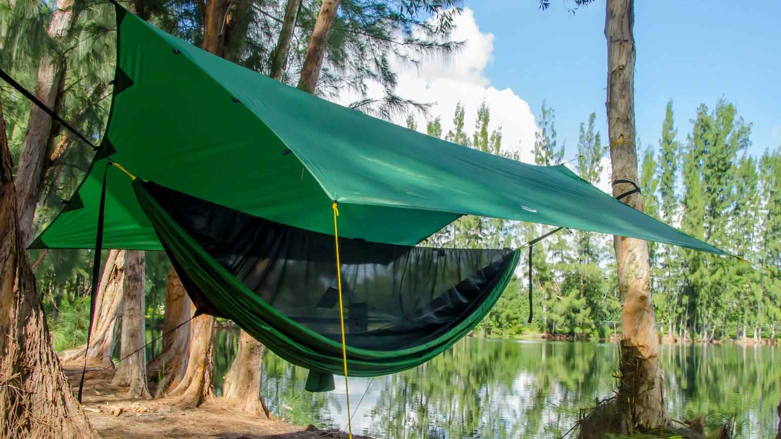 double lime large the hangmat poles tweepersoons dunes hammock in color