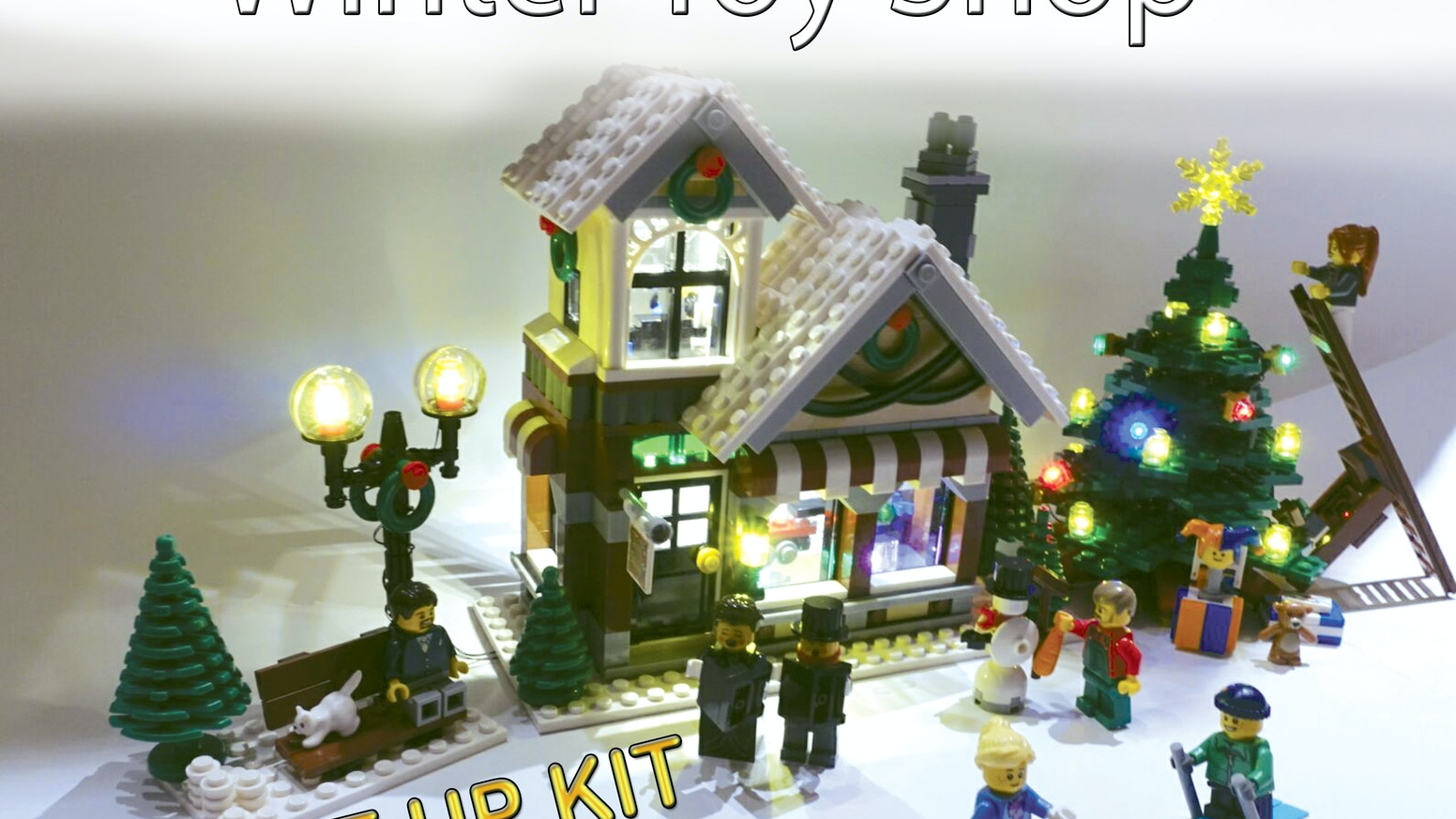 Light up kits for LEGO 10249 - Winter Toy Shop - USB