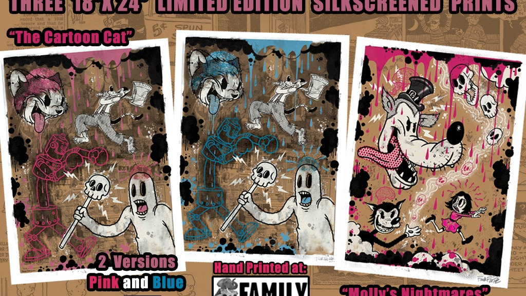 CARTOON Limited Edition Silk Screened Prints project video thumbnail