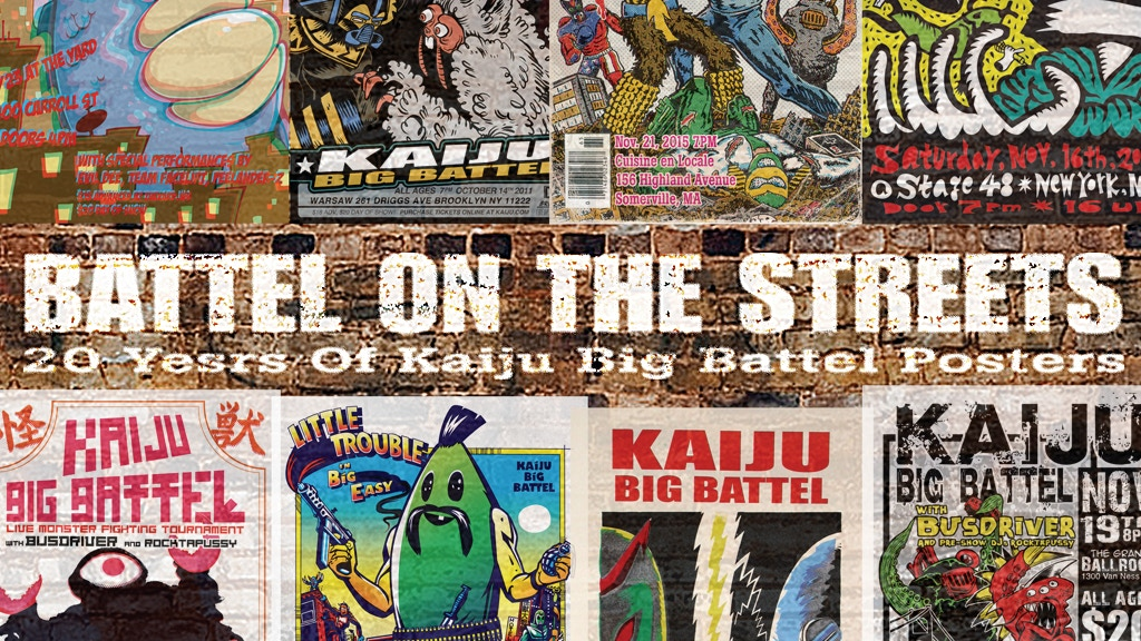 "Project image for ""20 Years of Kaiju Big Battel Posters"" book"
