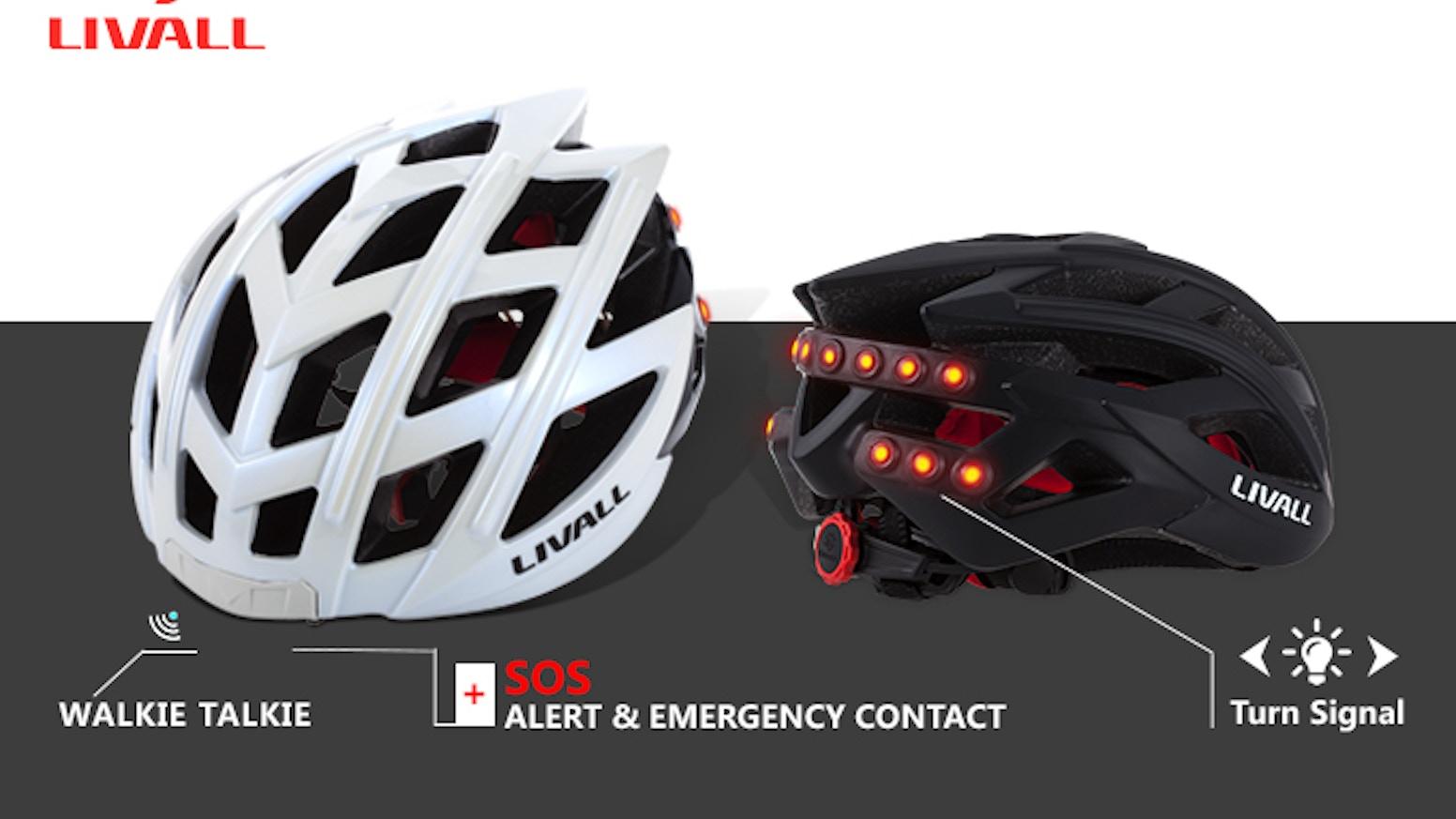 Smart and Safe Bike Helmet = Turn Signal + SOS Alert + Phone Calls + Music Player+Walkie-Talkie