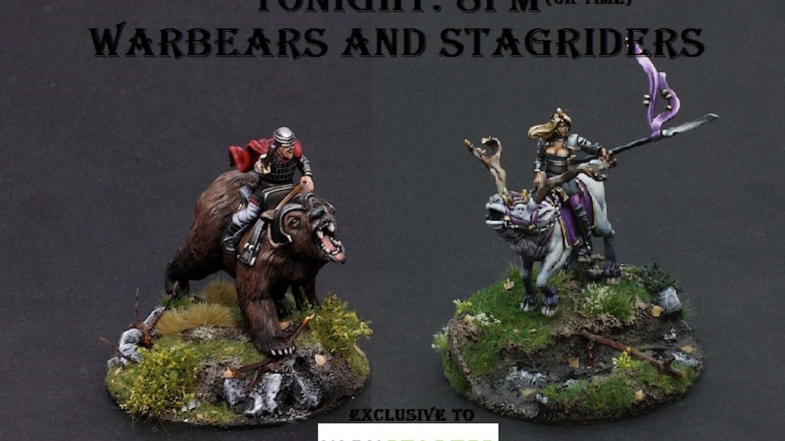 Warbears and Stagriders, Fantasy Wargames Miniatures by Mike