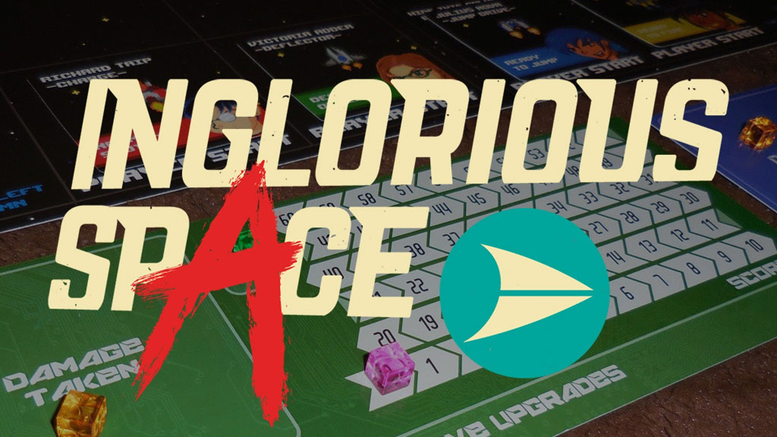 Inglorious Space is a 1-4 player, semi-cooperative tabletop game inspired by arcade shooters of the 80's and 90's.